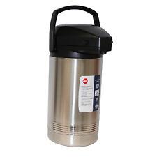EMSA 637301600 3L President Pumpkanne Gastro Isolierkanne Kaffeekanne Edelstahl