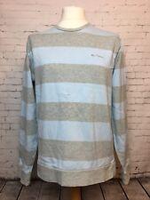 BEN SHERMAN Mens Cotton Jumper Sweater Striped - Size XL