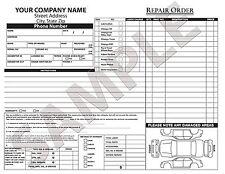 250 Custom Car Invoice / Estimate / Quote / Carbonless Form / Repair / Fix Order