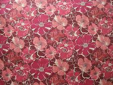 "LIBERTY OF LONDON TANA LAWN FABRIC DESIGN ""Poppy Rose D"" 1.1 METRE (110 CM)"