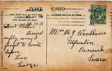 Family History Postcard - Woodhams - Alfriston - Berwick - Sussex - Ref 2034A