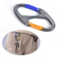 8 Shaped Carabiner Keychain Snap Clip Hook Hiking Buckle Outdoor Camping Tool