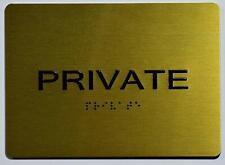 New listing Private Sign - Gold(Aluminium, Gold/Black,Size 5x7).(ref1820)