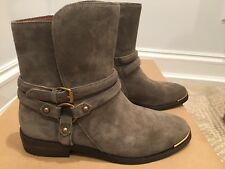 New Ugg Australia Kelby Mouse Suede Harness Ankle Boots, Style 1019151, size 7