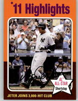 2019 Topps Archives 1975 Topps Highlights SP #311 Derek Jeter Yankees