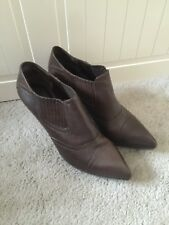Authentic Bally Ankle Shoes Dark Brown 37 With Box