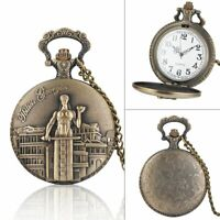 Fashion Steampunk Quartz Full Hunter Pocket Watch Pendant Retro Necklace Gift