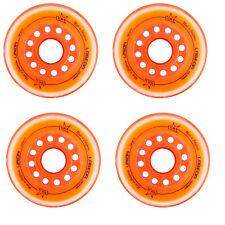 Labeda Inline Roller Hockey Skate Wheels Union Orange 76mm Set of 4