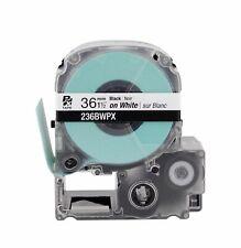 """Epson 236BWPX Black on White Tape 1-1/2"""" KSun 36mm NEW"""