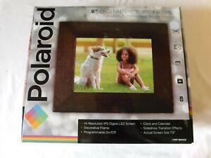 "NIB POLAROID 8"" Digital Picture  Distressed Wood Frame"