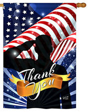 28 in. x 40 in. Thank You Banner Flag, Double Sided Dye Sublimation