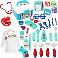 Kids Doctor Kit 31 Pieces Pretend-n-Play Dentist Medical Kit