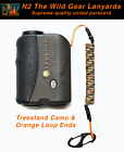 N2 The Wild Gear Lanyards Treestand Camo & Orange Coiled Paracord Lanyard Tether