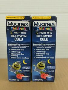 Lot of 2-Mucinex Children's Night Time Multi Symptom Cold~ Exp 02/2022