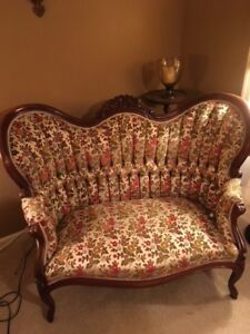 Authentic Style Victorian Love Seats and Arm Chairs by Capitol Furniture Co.