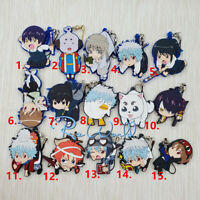 GINTAMA rubber Keychain Key Ring Race Straps cosplay