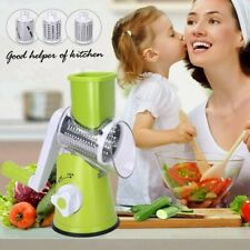 Vegetable Food Slicer Manual Kitchen Chopper Friut Tomato Cutter w/3 Blades
