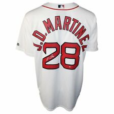 J.D. MARTINEZ Autographed Boston Red Sox White Cool Base Jersey STEINER ef6bd433d