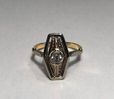 Art Deco Ring  750 Gold und Weißgold mit Brillant