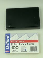 Oxford Index Cards Ruled 3 X 5 White 100pk With Penway Black Tab Card Holder