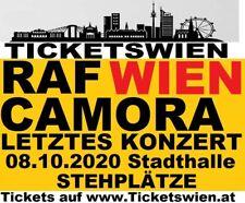 RAF Camora Wien Stehplätze 08.10.2020 Wiener Kartenbüro! TICKETSWIEN