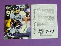 David Garrard Rookie Jacksonville Jaguars 2002 Pres Pass Gem Collection 1/1