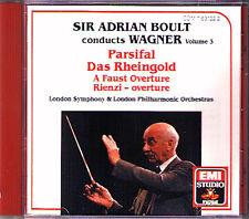 Sir Adrian BOULT: WAGNER Vol.3 A Faust Overture Rheingold Parsifal Rienzi EMI CD