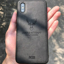 Deer Pattern Leather Texture Phone Case Cover For Apple iPhone X 8 6s 7 Plus 6