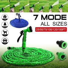 Expanding Garden Water Hose Pipe Spray Gun Flexible Grow Stretch Pipes 50F-200Ft