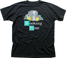 ADVENTURE COTTURA tempo Finn Jake Breaking Bad Walter Nero T-shirt di Cotone 9847