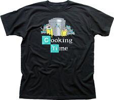 Adventure Cooking Time Finn Jake Breaking Bad Walter black cotton t-shirt 9847