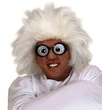 Einstein Wig Lunatic Mad Doctor Crazy Man White Fancy Dress