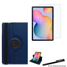 """Housse Etui Bleu pour Samsung Galaxy Tab S6 Lite 10.4"""" P610+ Vitre de protection"""