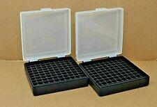 9 mm / 380 - (2) x 100 round ammo case / box (Clear / Black) Berrys mfg 9 mm New