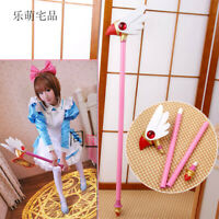Anime Card Captor Sakura Kinomoto Bird Cane Magic Wand Stick Cosplay Props 78CM