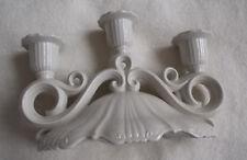 Leuchter, Porzellan, elfenbein, 3 Tüllen, Wagner & Apel