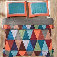 NIP VHC Brands Darby Triangle Pattern Queen Quilt & Shams Set 3pc