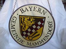 sehr schöne alte Wappenglasmalerei  Bleiverglasung - Bayern Gemeinde Mammendorf