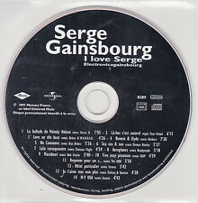 CD COLLECTOR SERGE GAINSBOURG I LOVE SERGE ELECTRONICAGAINSBOURG 14T 2001 RARE