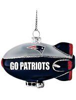 Brand New New England Patriots Glitter Blimp Christmas Ornament NFL