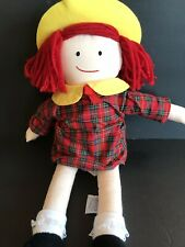 madeline doll eden 1994 plush stuffed toy girls dress and hat 16""