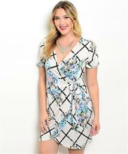 NEW..Stylish Plus Size Gorgeous Print Faux Wrap Dress..Sz18/2XL