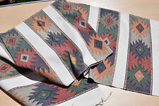 Handmade Tapestry - table runner RHOMBO - from Guatemala - muted colors