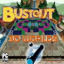 Bustout 3D Worlds  Modern Classic with 3D Action for PC  Win 7 8 Vista XP NEW