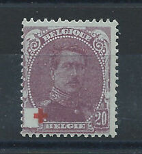 Belgique N°131 (*) (MNG) Papier bleuté 1914/15 - Croix rouge
