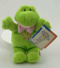 "MARY MEYER ~ LI'L HUGGS ~ Collectible 6"" Plush ""Kiss Me"" Frog (1998) ~NEW + TAGS"