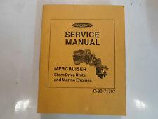 Mercury Marine Mercruiser Stern Drive Units & Marine Engines Service Manual OEM