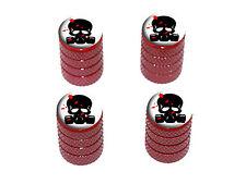 Zombie Outbreak Response Team Blood Skull Mask Tire Rim Valve Stem Caps - Red