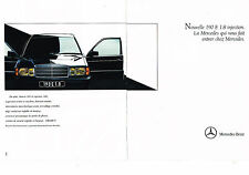 PUBLICITE ADVERTISING  1990   MERCEDES BENZ  190 E 1.8 inj  ( 2 pages)