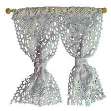Dolls' House 1:12th Scale White Net Curtains Dollshouse Curtains D12007